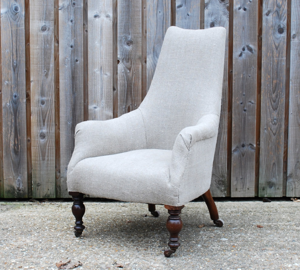 Antique-French-Upholstered-Armchair-angle