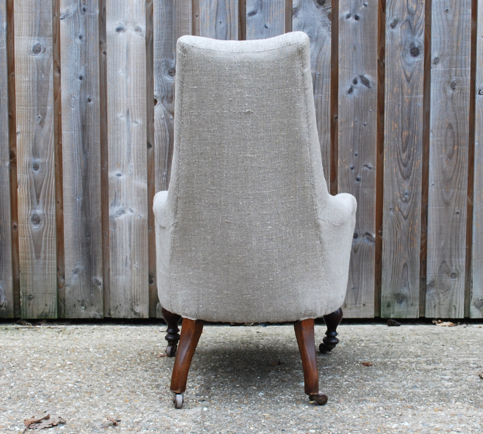 Antique-French-Upholstered-Armchair-back