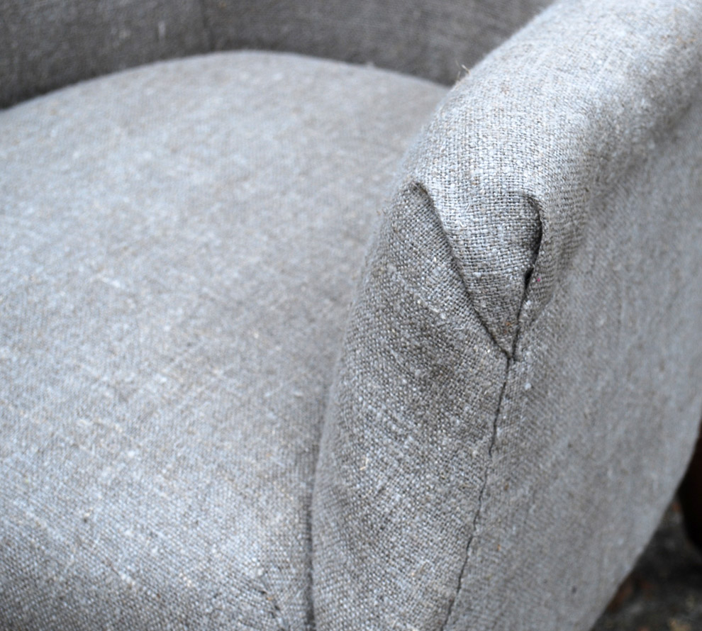 Antique-French-Upholstered-Armchair-detail
