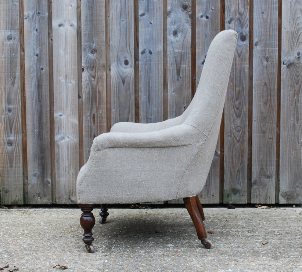 Antique-French-Upholstered-Armchair-side