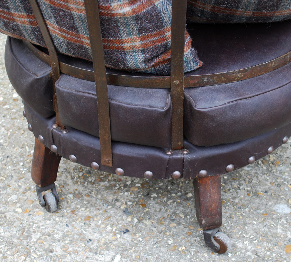 French Iron Framed Chair