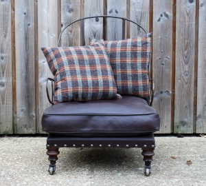 French Iron Framed Easy Chair